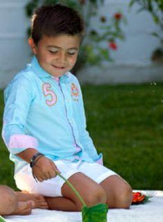 Pantalón corto de lino blanco de diseño chino, de Nachete para Cucúbebé Moda Infantil: http://www.cucubebe.com