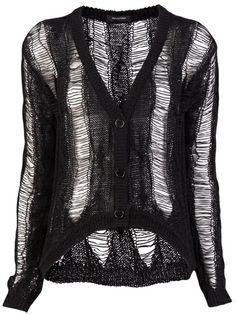 Ladder cardigan #black #clothing #style