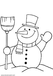 Image result for okul öncesi boyama kardan adam