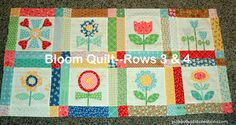 Bloom Quilt rows 3 &