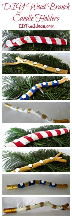 Trendy tree painting on wood branches Ideas Tree Crafts, Wood Crafts, Diy Crafts, Tree Branch Decor, Tree Branches, Trees, Real Christmas Tree, Christmas Crafts, Christmas Ideas