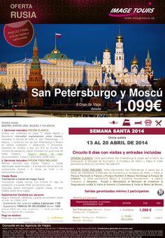 ¡ADELÁNTATE!, San Petersburgo y Moscú, circuito 8 días con visitas Semana Santa 2014, desde 1.099€ - http://zocotours.com/adelantate-san-petersburgo-y-moscu-circuito-8-dias-con-visitas-semana-santa-2014-desde-1-099e/