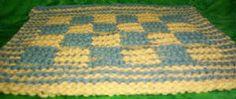 Checkerboard Illusion dishcloth knitting pattern