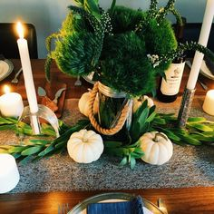 An October Table with an Organic Feel