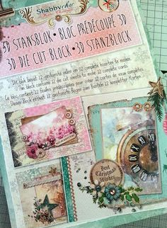 Personal Impressions Blog: Shabby Chic Mini Christmas Cards - Part 1