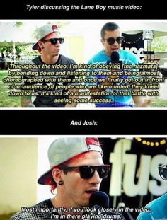 josh and tyler have a very unique sense of dry almost ironic humor and it's possible the best type of humor i've ever come across