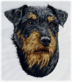 Detailed design documentation - colors, thread consumption, etc. Dog Pattern, Pattern Design, Dog Design, Creations, Embroidery, Dogs, Color, Patterns, Embroidery Designs