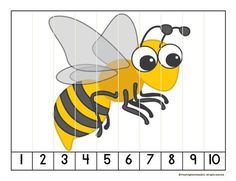 Puzzle per enganxar a 10 pals de polo. Preschool Math, Kindergarten Activities, Insect Activities, Puzzle Games, Maths Puzzles, Bee Crafts, Bugs And Insects, Busy Book, Creative Play