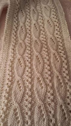 A gorgeous textured ivory scarf for the discerning woman. by on Etsy Easy Knitting Patterns, Sewing Stitches, Lace Patterns, Knitting Designs, Stitch Patterns, Crochet Patterns, Knitting Daily, Baby Knitting, Crochet Shawl