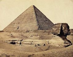 'Sphinx' | Francis Frith (1822-98) Egypt, 1858. Albumen print from collodion-on-glass negative. Width 49.2 cm x height 38.5 cm.