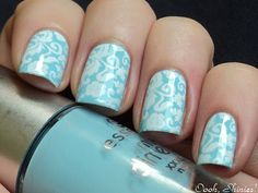 Essence Fall For Me with Konad White and Red Angel plate 112
