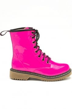 Stationed at Hot Pink Combat Boots Today | Hot pink, Pink and Love