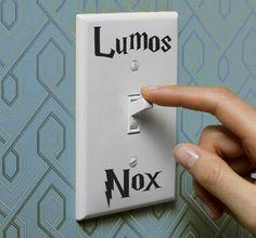 Amazing light switch for Potterheads !!! <3<3<3