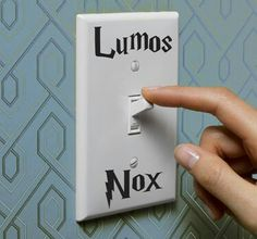 Amazing light switch for Potterheads !!! <3<3<3