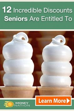 Seniors are entitled to these 12 money saving gems starting but many don't know about them… Senior Citizen Discounts, Money Saving Meals, Senior Living, Financial Tips, Money Matters, Shopping Hacks, Money Management, Money Tips, Frugal Living