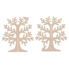 MDF Jewellery Tree - Woodland
