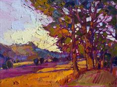 "Saatchi Art Artist Erin Hanson; Painting, ""Amber Valley"" #art"