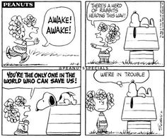 #peanutsspecials #pnts #peanuts #snoopy #friedafriday #frieda #awakeawake #herd #rabbits #trouble