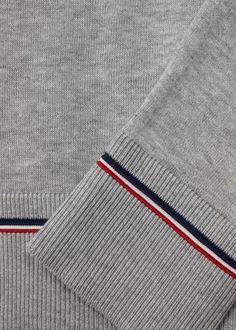 Grey fine-knit cotton jumper - Knitwear - All Clothing - Men