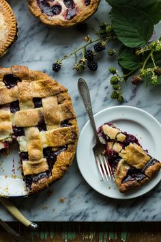 Blue and Blackberry Ginger Pie