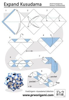 3d Origami Tutorial, Origami Instructions, Origami Patterns, Origami Ideas, Origami Boxes, Origami Modular, Origami Diagrams, Origami Ball, Paper Crafts Origami
