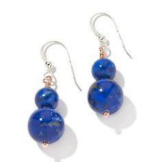 Jay King Beaded Lapis 2-Tone Drop Earrings  HSN Price:$39.90  Appraised Value: $66.00