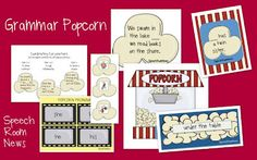 Grammar Popcorn, Free download. - Re-pinned by @PediaStaff – Please Visit http://ht.ly/63sNt for all our pediatric therapy pins