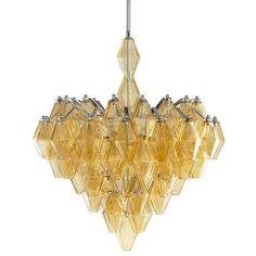 Large Boho 6 Light Chandelier by Cyan Design. Glass with Amber finish. #Shopcandelabra #Retrowave