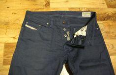 DIESEL SAFADO 008QU Regular Slim Straight Button Zip Fly Blue Jeans Size W32 L32 #Diesel #Slim Blue Jeans, Diesel, Flyer, Vintage Jeans, Online Price, Jeans Size, Bermuda Shorts, Slim, Ebay