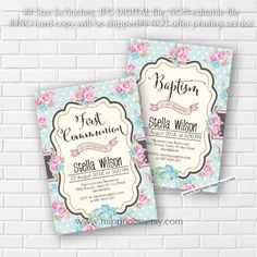 baptism invitation first communion invitation by miprincess