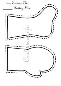 Stocking and Mitten Templates