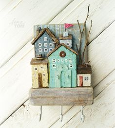HIde a few treasures in these little boxes & display on a wall or fence