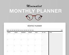 "Minimalist Monthly Wall Planner  11.69"" x 16.53"", Laminated, Horizontal, Erasable, White, Black"