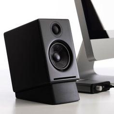 Audioengine Desktop Speaker Stands for - Pair (Black) Small Speakers, Desktop Speakers, Best Speakers, Bluetooth Speakers, Homemade Speakers, Monitor Speaker Stands, Sound Stage, Simple House Design, Cool Tech