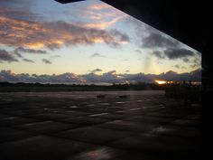 Sunrise at the Hilo Airport.