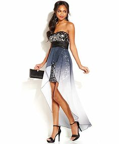 Speechless Juniors' Sequin High-Low Dress I love this dress I may get it even tho I have nowhere to wear it...I love this dress omg