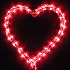 white wire red led craft lights valentines day lights pinterest