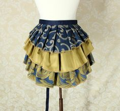 Bustle Belt Overskirt 3 Layer Sz. S/M Blue by VeneficaCorsetry