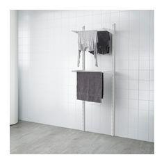 ALGOT Wandschiene/Wäschehalter, weiß