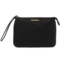 768859e3d15d Tony Bianco Roxie Black Clutch ( 46) ❤ liked on Polyvore featuring bags