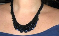 Ravelry: Scallop-Edge Beaded Necklace pattern by Carol Metzger