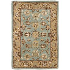 Safavieh Heritage Blue/Gold Area Rug and runner