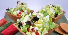 Bibb lettuce salad with apple bleu cheese and walnuts ------ #arista #catering #Seattle #salad (888)98-CATER