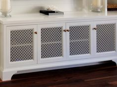 Swift Grille Cabinetry panels for DK Interiors, Manhattan Beach, CA
