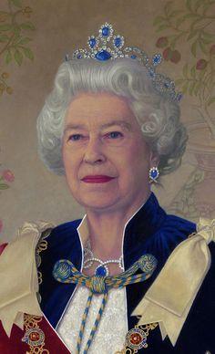 She's so lovely, dignity personified. Queen of England, Elizabeth II Queen Elizabeth Portrait, Princess Elizabeth, Queen Elizabeth Ii, Royal Crowns, Royal Tiaras, Prinz Philip, Die Queen, Estilo Real, British Royal Families