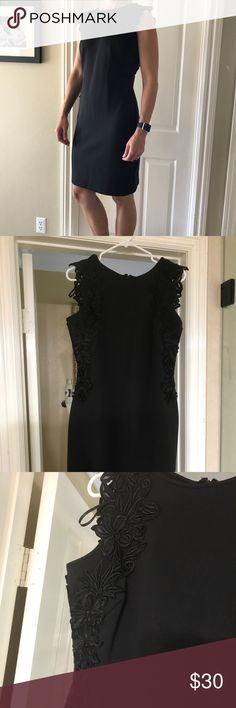 Black dress with lace detail Cute black mini dress with lace detail. slny Dresses Mini