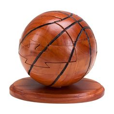Wooden Basketball Puzzle. Available at www.OfficePlayground.com.