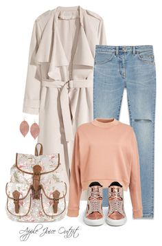 """outfit #176"" by apple-juice-outfit ❤ liked on Polyvore featuring H&M, Accessorize, Yves Saint Laurent, Acne Studios, Humble Chic and Eugène Riconneaus"