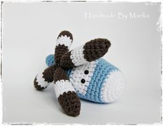 Amigurumi Helicopter Baby Toy Rattle  turnable blades  by ByMarika, $33.00