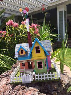 "Disney Pixar ""up"" house puzzle by Birdswoodshack on Etsy Popsicle Stick Houses, Popsicle Stick Crafts, Craft Stick Crafts, Fun Crafts, Crafts For Kids, Paper Crafts, Up Pixar, Disney Pixar Up, Disney Movies"